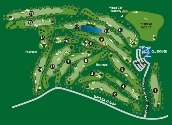 Wailea Emerald Course Overview Map