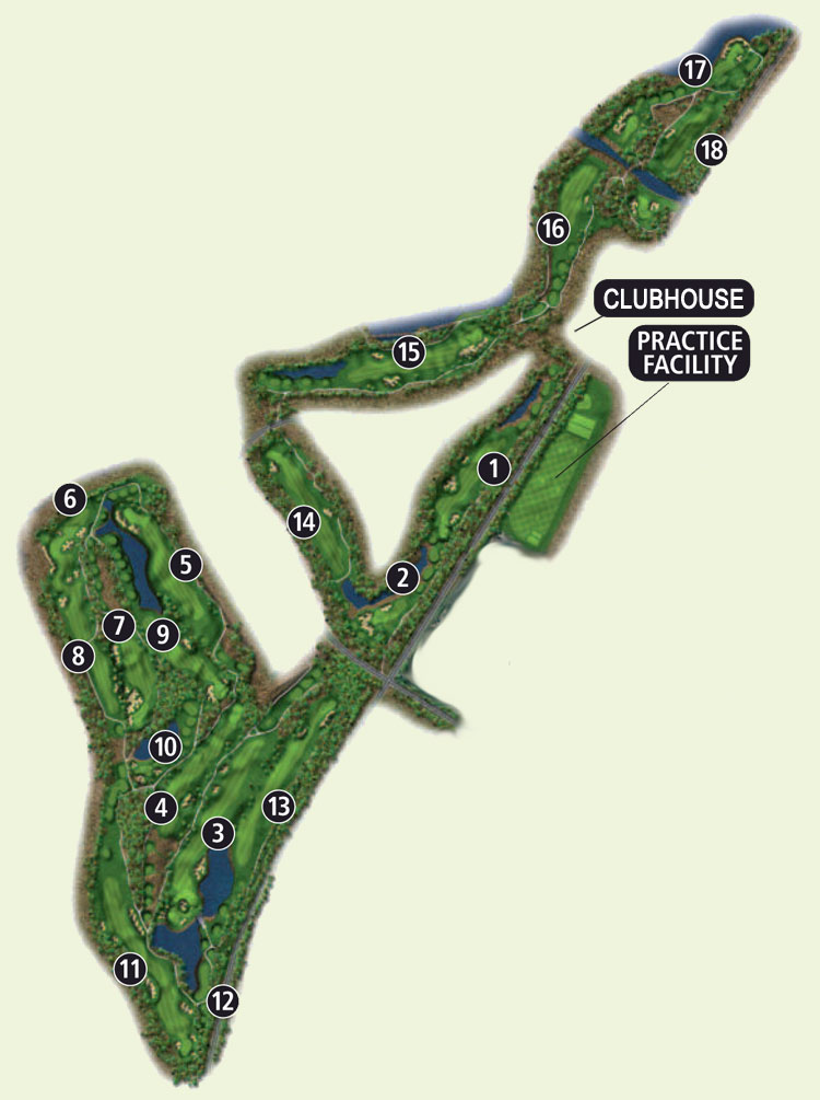 Nicklaus North Course Overview Map