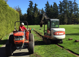 Drainage Project at Arbutus Ridge