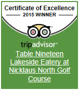 Table Nineteen Certificate of Excellence