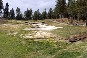 Quail Bunker on 3rd hole after washout